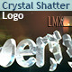 3D Crystal And Diamond Shatter Logo
