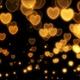 Sparkling Golden Hearts