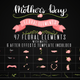 Mothers Day Floral Elements