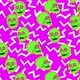 Flourescent skulls comic stop motion