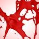 Red Paint Explosion Splash