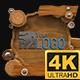 Wooden Lowerthirds 4K (Mograph)