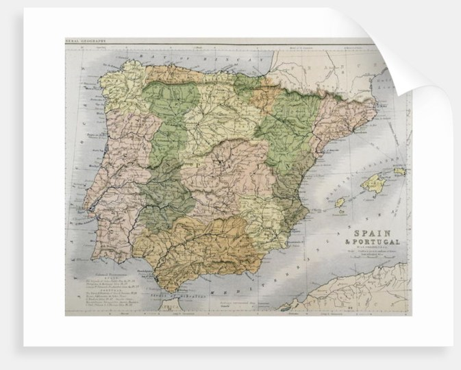 A map of Spain and Portugal A map of Spain and Portugal by A K  Johnston