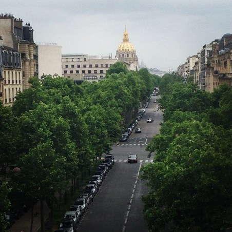 View of Invalides from our hotel room
