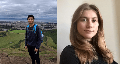 Maddy and Harry both embark on Master's degrees following internships