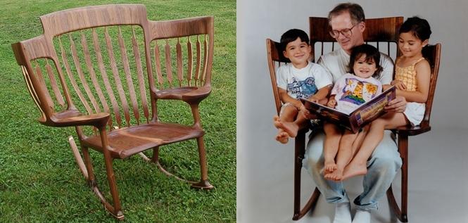 Trostruka stolica za ljuljanje
