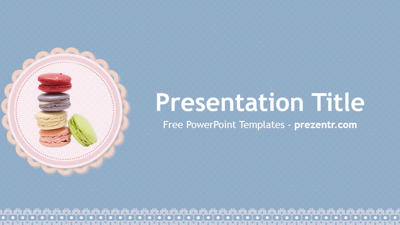 Free Macarons PowerPoint Template Prezentr PowerPoint Templates