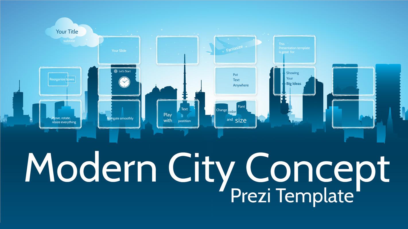 Modern City Concept Prezi Template Prezibase