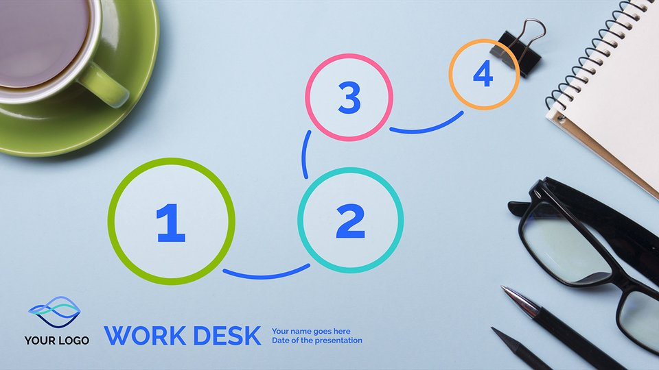 Free Prezi Presentation Templates   Business Presentations   Prezi Work Desk   Leisure