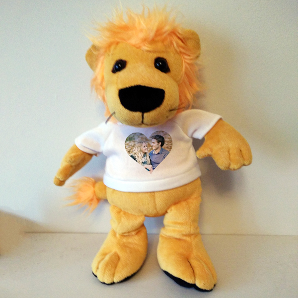 PERSONALISED HEART LEON THE LION TEDDY