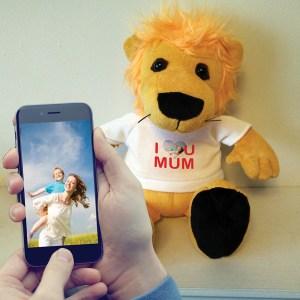 PERSONALISED I ♥ U MUM LEON THE LION TEDDY