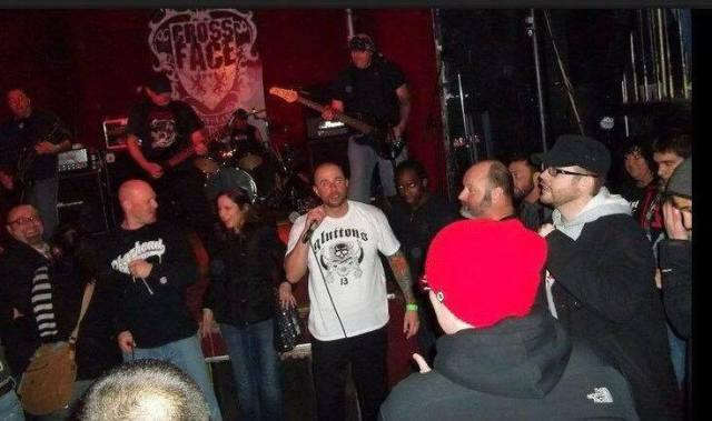 My first punk concert. I'm on the left with my husband smiling at the camera.