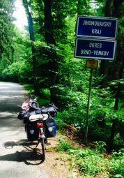 crossing border to Jihomoravsky kraj