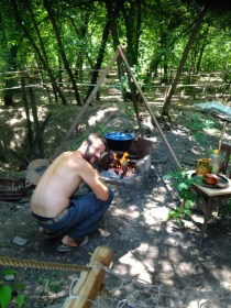cooking beans in Bogrács