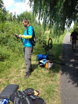 our first puncture :)
