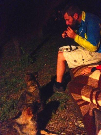 Sascha making friends