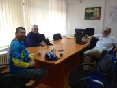meeting Vladimir in the mining company's office