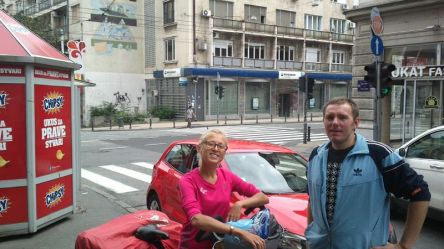 he came to meet us in Beograd for 3 hours - we have dedicated fans!