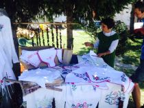 Sirogojno crafts. As we found out, her son is owner of a restaurant in Prague