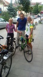meeting the local cyclist :)