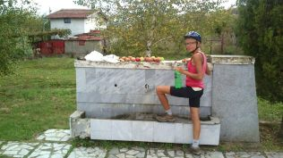 "pitstop to wash the apples we ""acquired"""