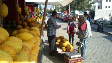 Nastya, showing off her melon buying skills