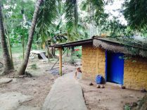 the hut of Raja and Sameer who live with us