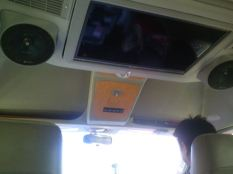 a spaceship with TVs and wifi