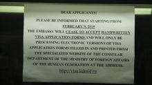 important info printout at russian consulate, when will they ever update their website?