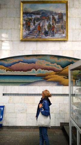 Tynda station paintings