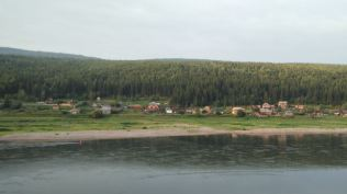 Lena river in Ust-Kut