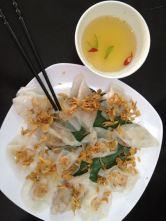 Shrimp dumpling specialty in Hoi An