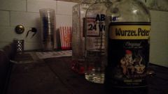 at the bday party - Wurzel Club Mate