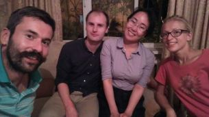 our hosts Gabriel from Vancouver and Varvara from Yakutsk