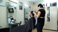 Kazakh hairdresser