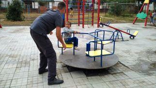 new playground and my nephew Dima :)