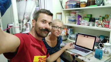 kitchen wifi/tea/facebook/skype session