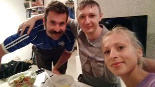 reunion with Kostya, who introduced us to each other when we first met