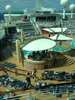 The pool area on our ship!