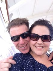 First day on the ship. A little windblown.