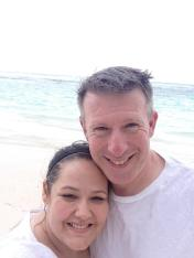 Me and Sean at the beach in Jamaica.