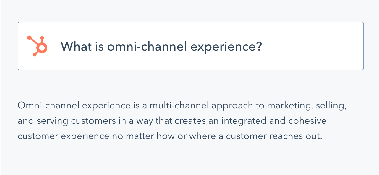 Hubspot Omni channel Approach