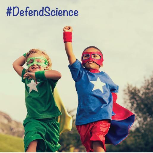 Defend Science superheroes