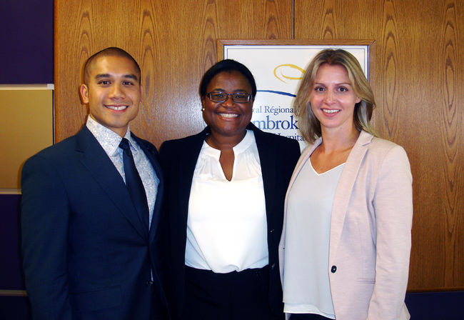 The Pembroke Regional Hospital recently welcomed orthopaedic surgeons (from left) Dr. Christopher de Jesus, Dr. Natasha Holder and Dr. Ingrid Radovanovic who will be part of the hospital's new full-service orthopaedic program.