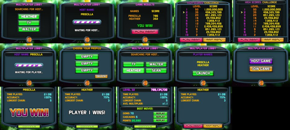 Bejeweled Twist (DS): UI