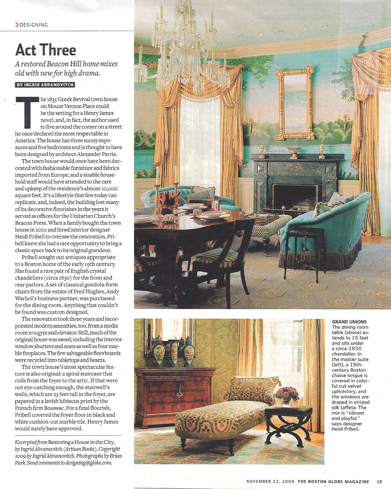 Heidi Pribell O Interior Designer Boston MA Globe