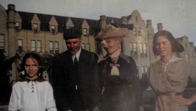 Frances, Earl, Lizzie, and Helen Price at Ontario Ladies' College