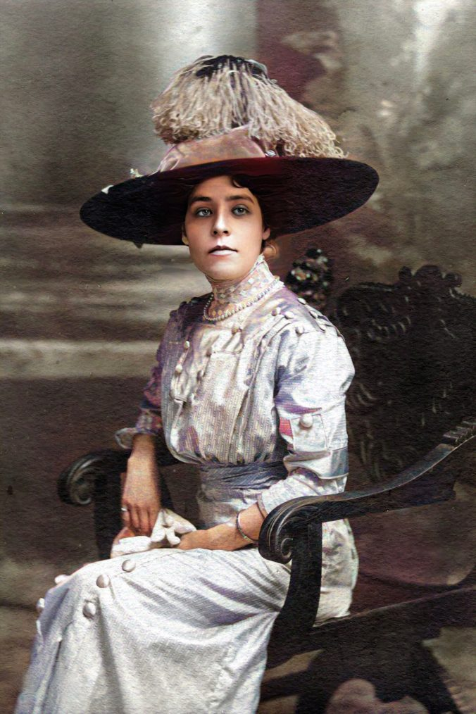 Flora Pearl Price in a Big Hat