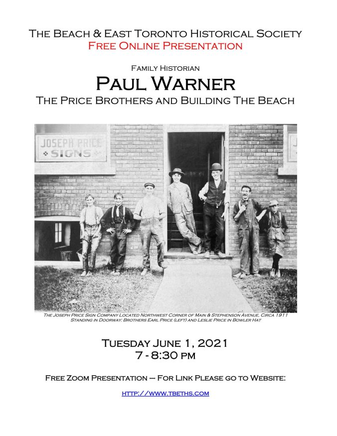 Poster for June 1, 2021 Talk about the Price Brothers