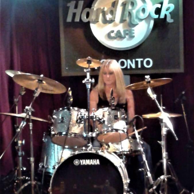 CP playing drums at Hard Rock Toronto